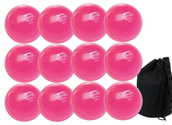 Slazenger Airball Senior Pink 12 Pack With Ball Bag - Sports Ball Warehouse