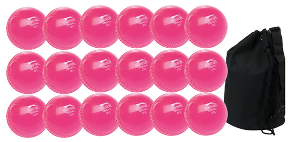Slazenger Airball Senior Pink 18 Pack With Ball Bag - Sports Ball Warehouse