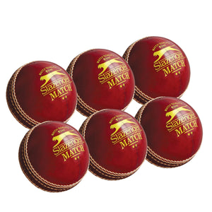 Slazenger Match Junior Red 6 Pack - Sports Ball Warehouse