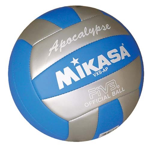 Mikasa VXS-AP Outdoor Volleyball (Silver/Blue) - Sports Ball Warehouse