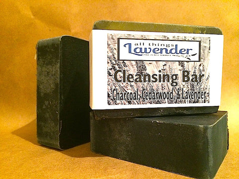 Charcoal, Cedarwood, & Lavender Cleansing Bar