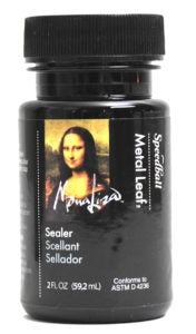 Mona Lisa Water-Based Sealer for Metal Leaf - 2 oz.
