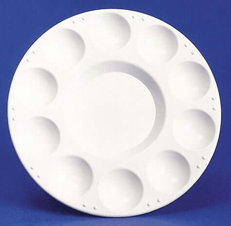 10 Well Plastic Round Tray Palette