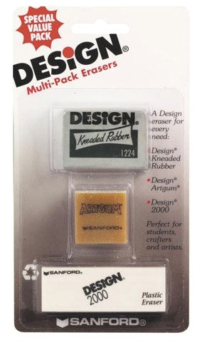 Sanford Design Multi-Pack Eraser 3/pk
