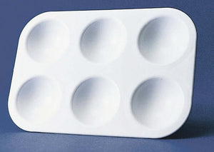 6 Well Plastic Rectangular Tray Palette