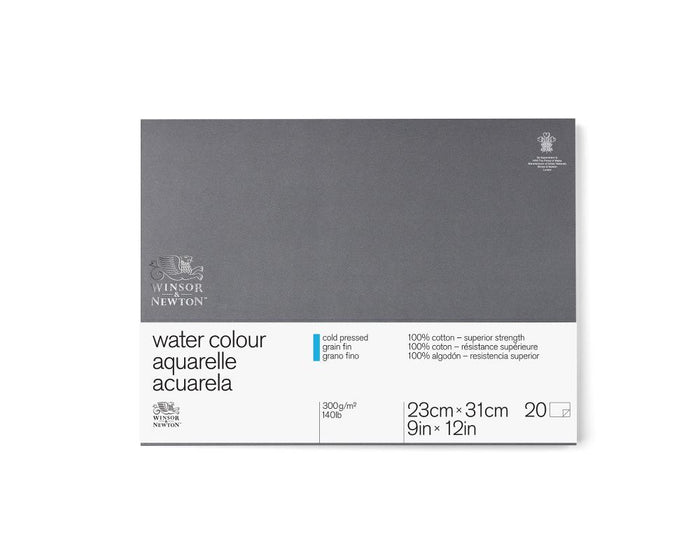 "Winsor & Newton Professional Watercolour Paper Block - 140 lb. Cold Press - 9"" x 12"""
