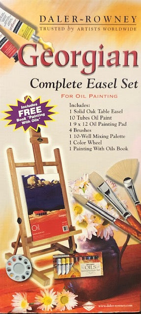 Daler Rowney Georgian Complete Easel Set for Oil Painting