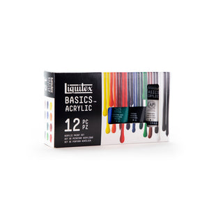 Liquitex Basics Acrylic Colour Set of 12 x 22 ml