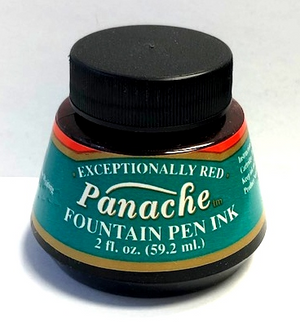 Panache Fountain Pen Ink 2 fl oz. bottle - Red