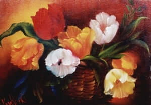 Bob Ross Floral Painting Packet - Basket of Tulips