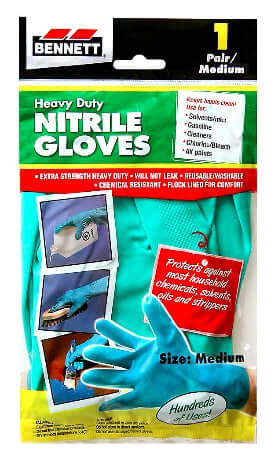 Bennett Heavy Duty Nitrile Gloves 1 Pair - Medium