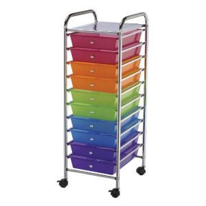 Blue Hill Studio™ Storage Carts 10 Drawer Multicolour