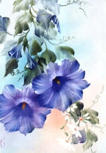 Bob Ross Floral Painting Packet - Blue Morning Glories