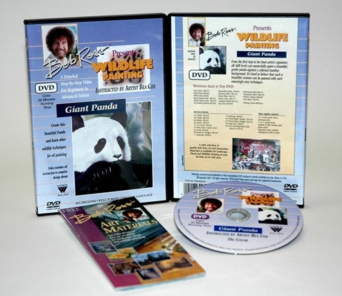 Bob Ross Wildlife Painting Giant Panda DVD