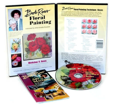 Bob Ross Floral Painting Roses DVD