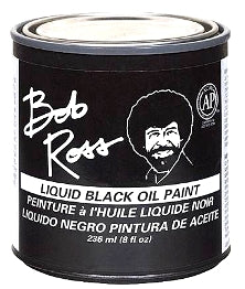 Bob Ross - 236 ml - Liquid Black Oil Paint