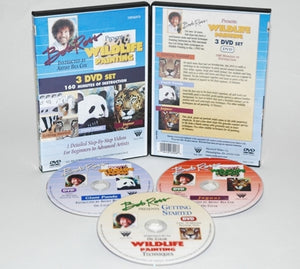Bob Ross Wildlife 3 Disk DVD Set
