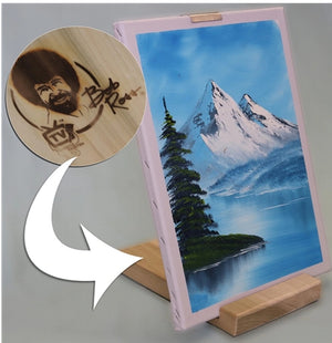 Bob Ross Wood Travel Table Easel