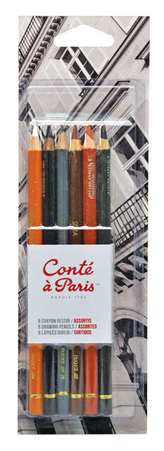 Conte a Paris 6 Assorted Drawing Pencils