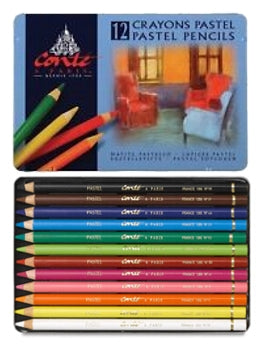 Conté à Paris Pastel Pencils Set of 12 - Assorted