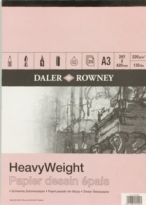 "Daler Rowney Heavyweight Cartridge Pad - 16.55"" x 23.39"" (A2)"