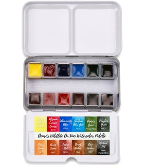 Da Vinci Denise's Wildlife Watercolour Palette Paint Set - 12 colours