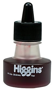 Design Higgins Waterproof Drawing Ink 1 oz. bottle - Red