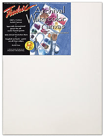 "Fredrix Watercolour Regular Stretched Canvas - 12"" x 16"""