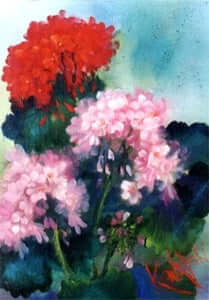 Bob Ross Floral Painting Packet - Geraniums