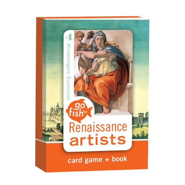 Renaissance Artists Go Fish Card Game