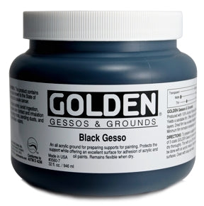 Golden - 32 oz. - Black Gesso