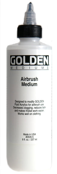 Golden Airbrush Medium - 8 oz. bottle