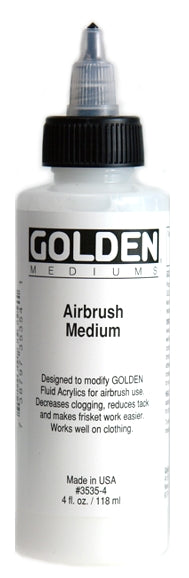 Golden Airbrush Medium - 4 oz. bottle