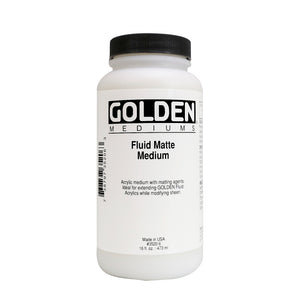GOLDEN - 16 OZ. - FLUID MATTE MEDIUM