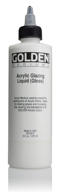 GOLDEN - 8 OZ. - ACRYLIC GLAZING LIQUID GLOSS