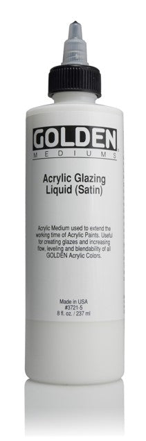 GOLDEN - 8 OZ. - ACRYLIC GLAZING LIQUID SATIN