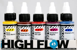 Golden High Flow Set Assorted Colours Set - 10 x 30 ml bottles