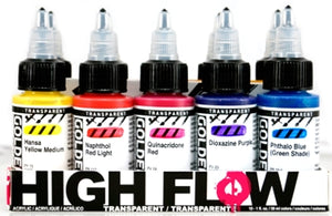 Golden High Flow Set Transparent Colours Set - 10 x 30 ml bottles
