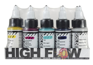 Golden High Flow Set Drawing Set - 10 x 30 ml bottles