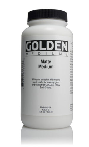 GOLDEN - 16 OZ. - MATTE MEDIUM