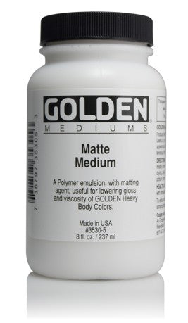 GOLDEN - 8 OZ. - MATTE MEDIUM