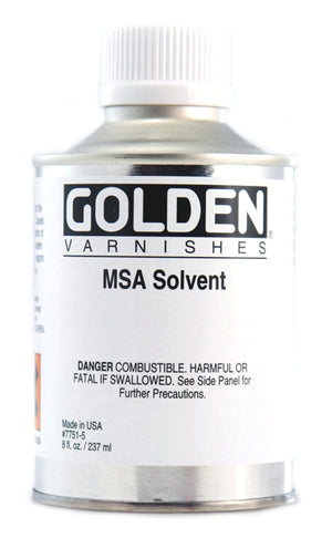 Golden - 8 oz. - MSA Solvent