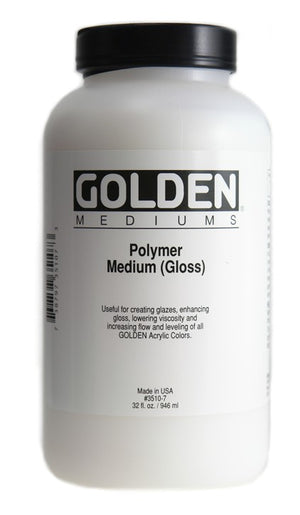 GOLDEN - 32 OZ. - POLYMER MEDIUM GLOSS
