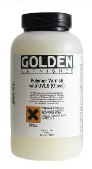 GOLDEN - 32 OZ. - POLYMER VARNISH WITH UVLS GLOSS