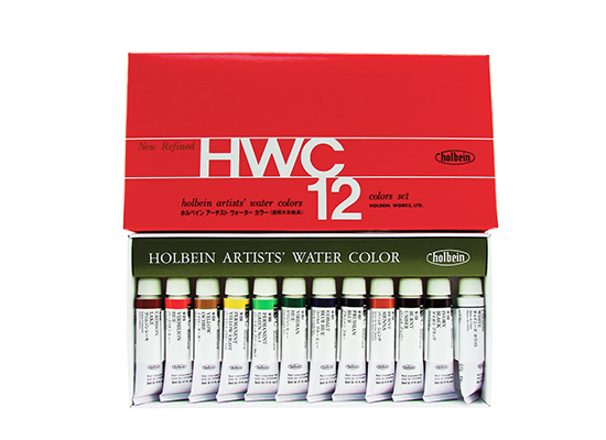 Holbein Watercolour Set of 12 - 5ml tubes