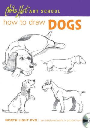 Chris Hart Art School: How to Draw Dogs DVD