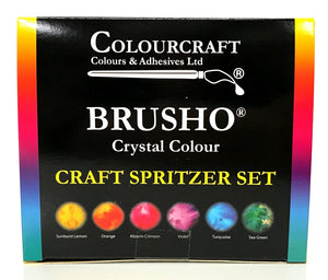 Brusho Crystal Colour Craft Spritzer Set