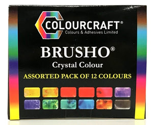 Brusho Crystal Colour Assorted Pack of 12 Colours