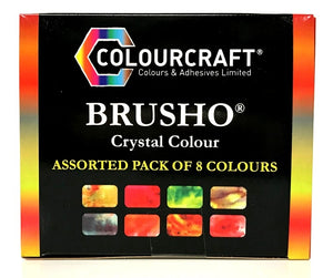 Brusho Crystal Colour Assorted Pack of 8 Colours
