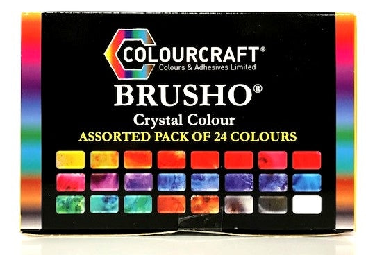 Brusho Crystal Colour Assorted Pack of 24 Colours
